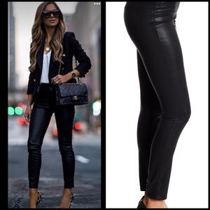 New! 1. State Lacquered Twill Black  Leggings